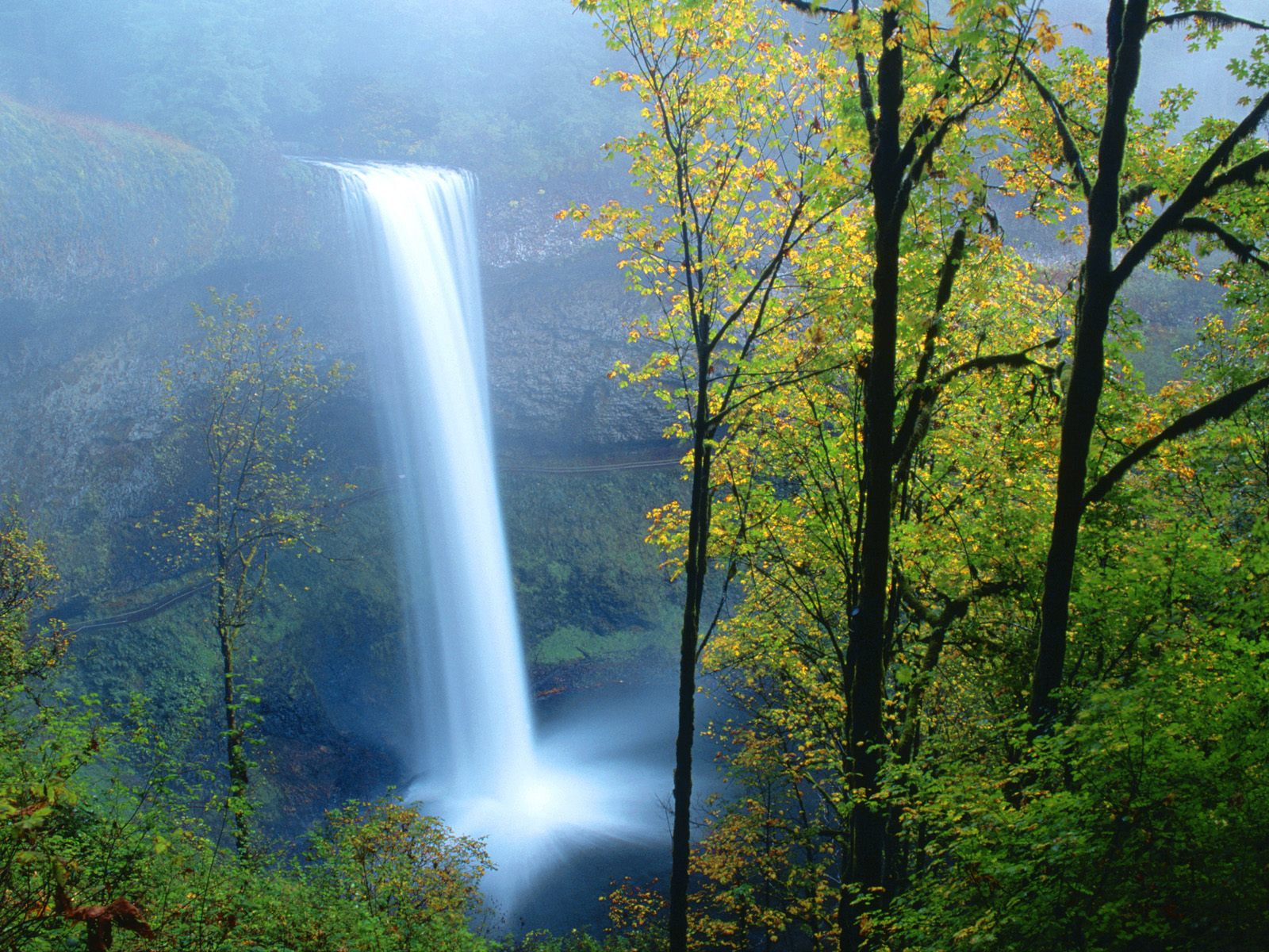 South falls silver falls state park oregon waterfalls - Oregon nature wallpaper ...