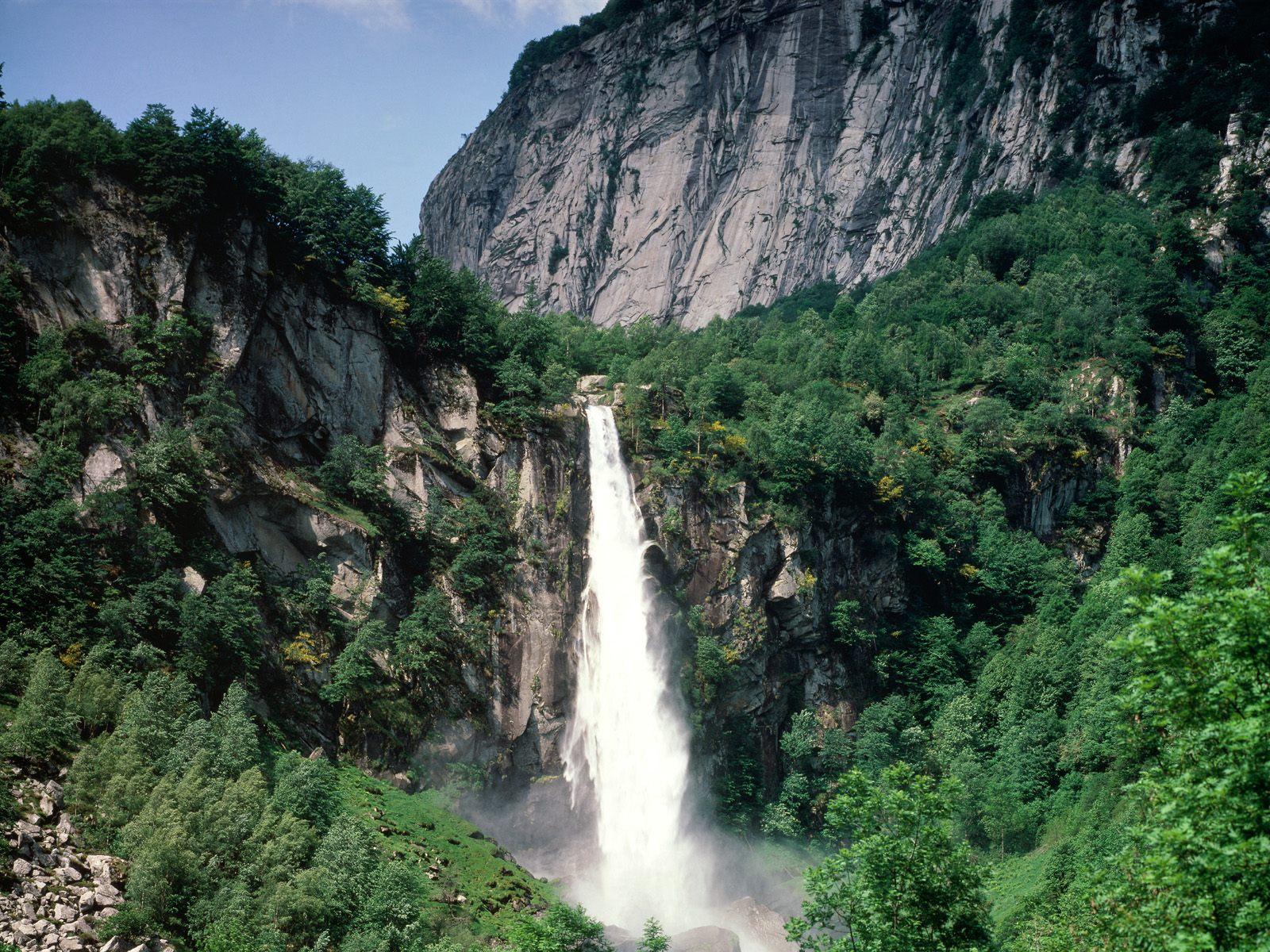 Ticino Waterfall Switzerland
