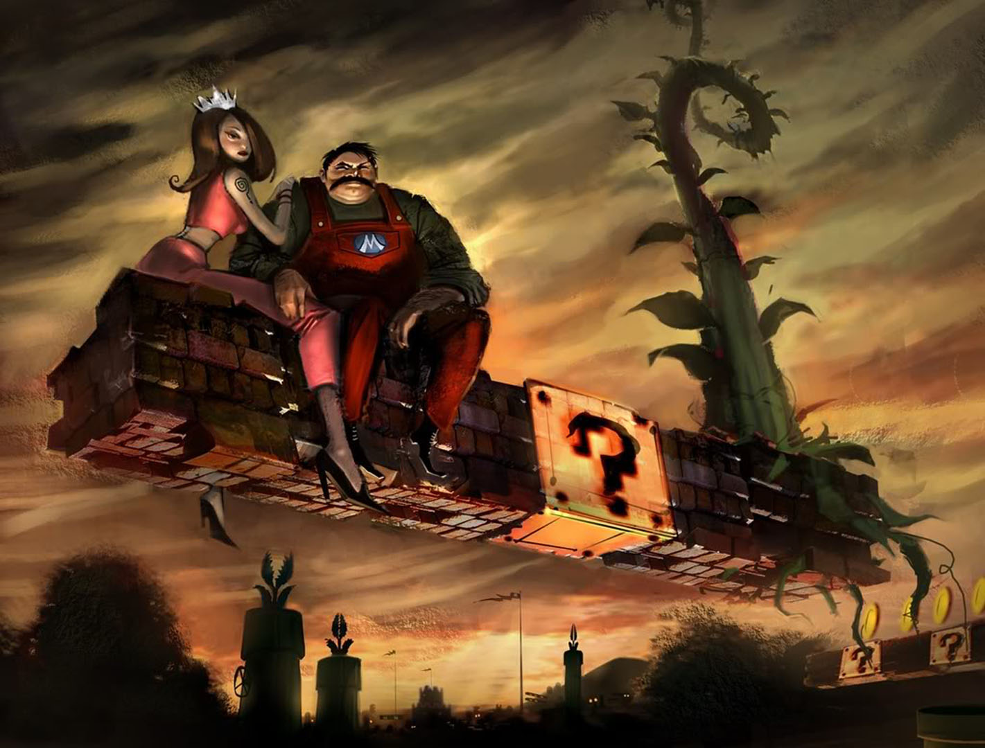 Post Apocalyptic Mario And Peach