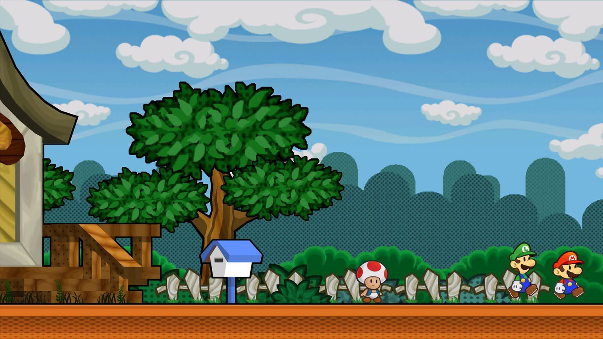 Super Paper Mario At The Letterbox Next Wallpaper
