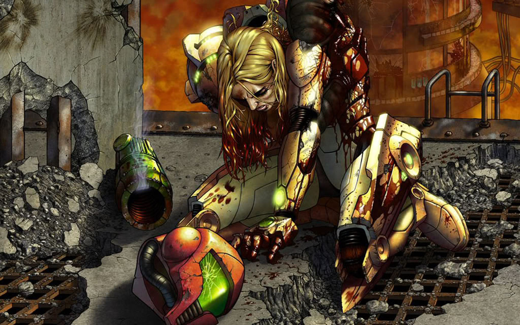 Wounded Samus