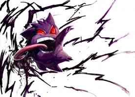 purple red eyed pokemon