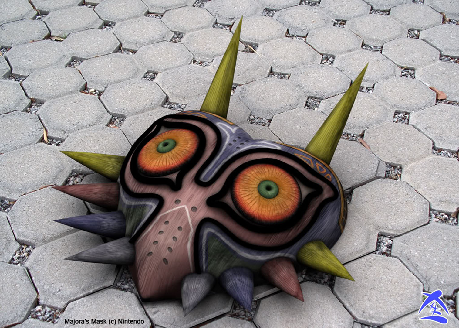 Majoras Mask On The Floor