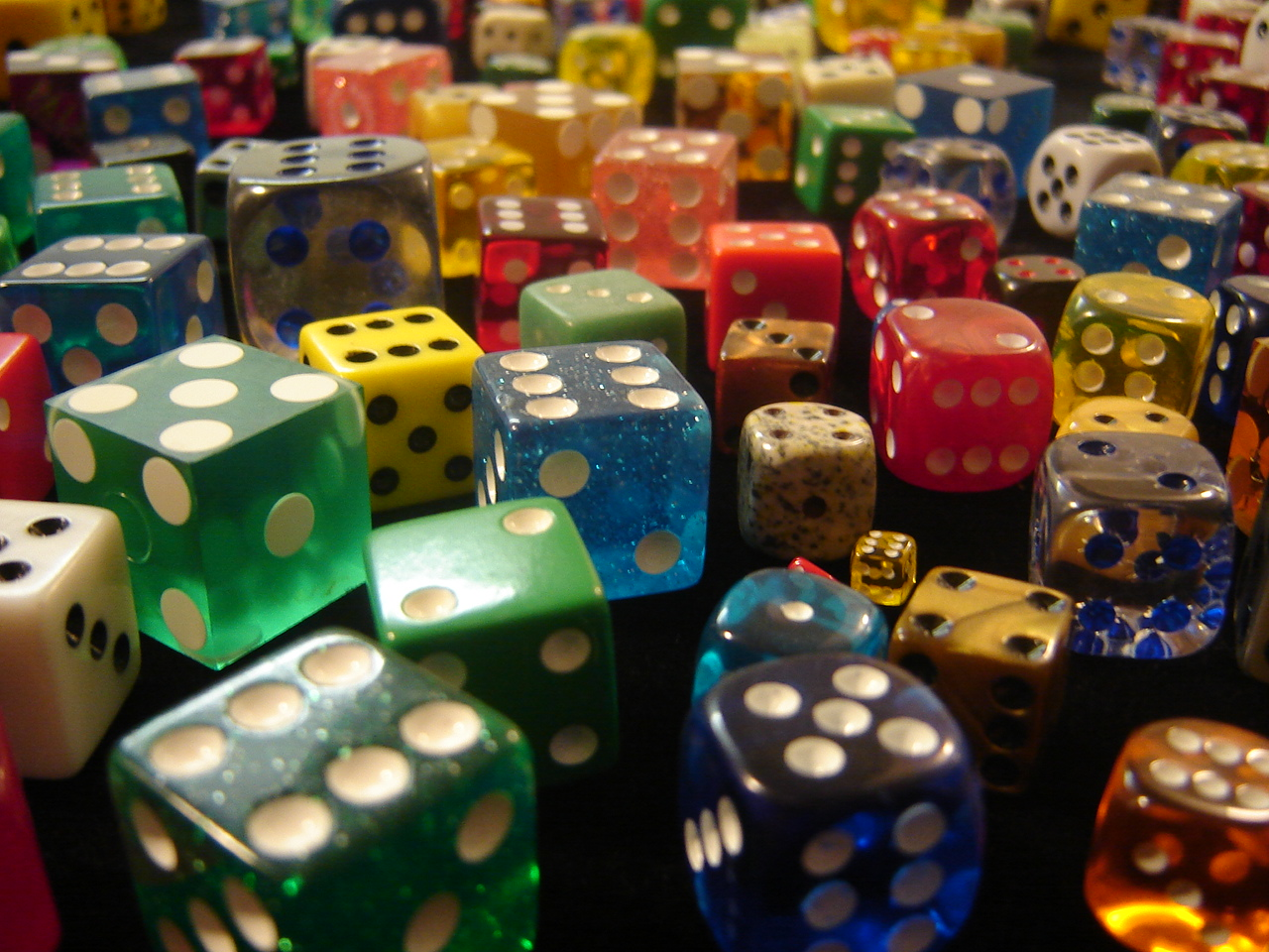 Many Dice  Gambling Objects Wallpaper Image