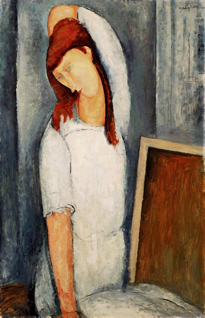 Jeanne Hbuterne Left Arm Behind Her Head