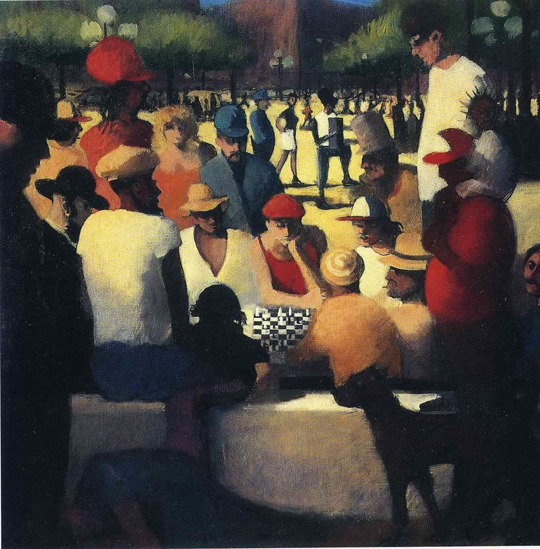 Bill Jacklin Study For The Chess Players