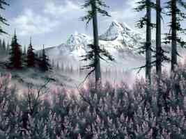 bob ross mountain blossoms dana jester