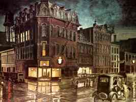 JLM 1930 Charles Burchfield Rainy Night Buffalo NY