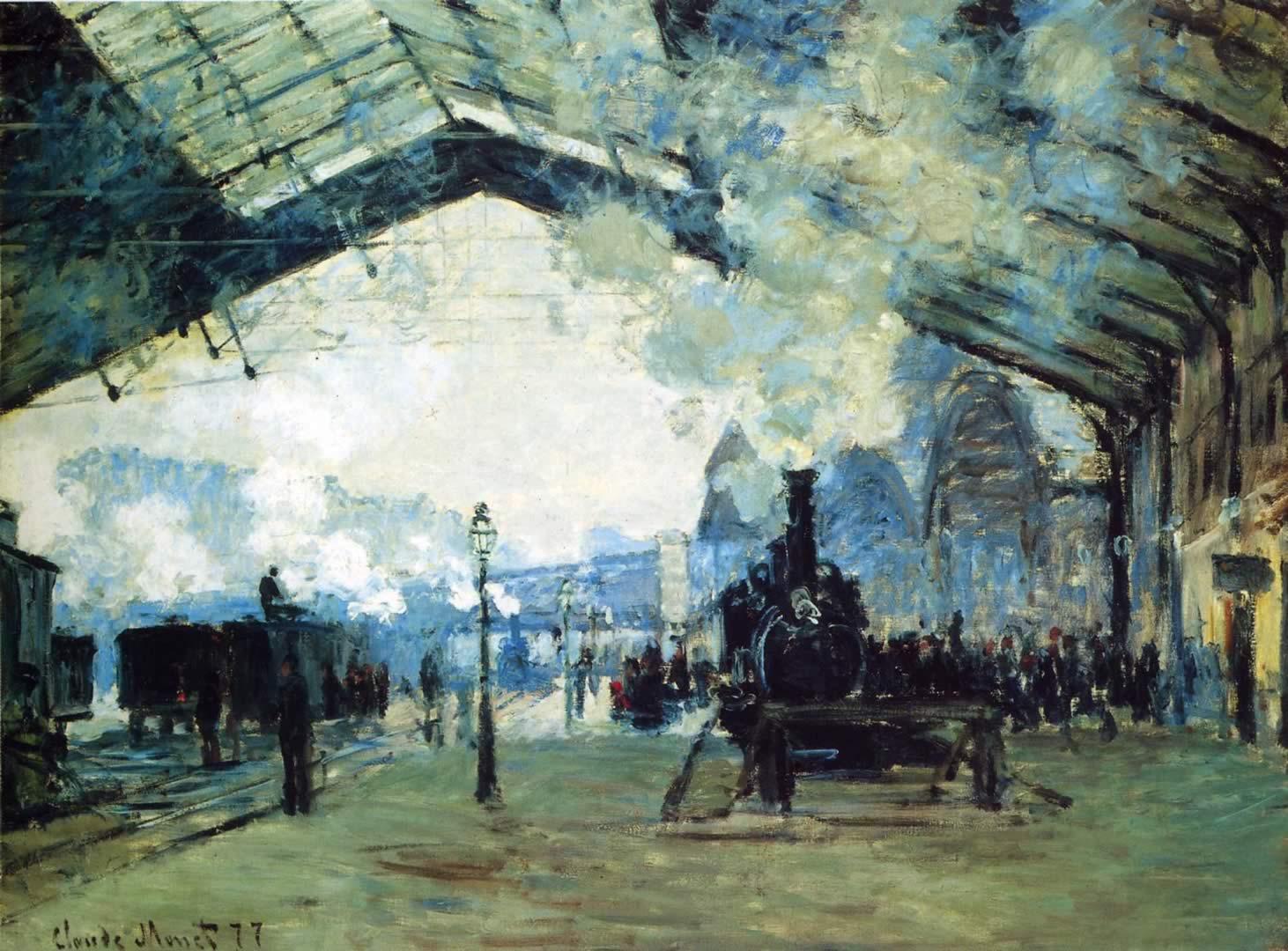 Arrival Of The Normandy Train Gare St Lazare