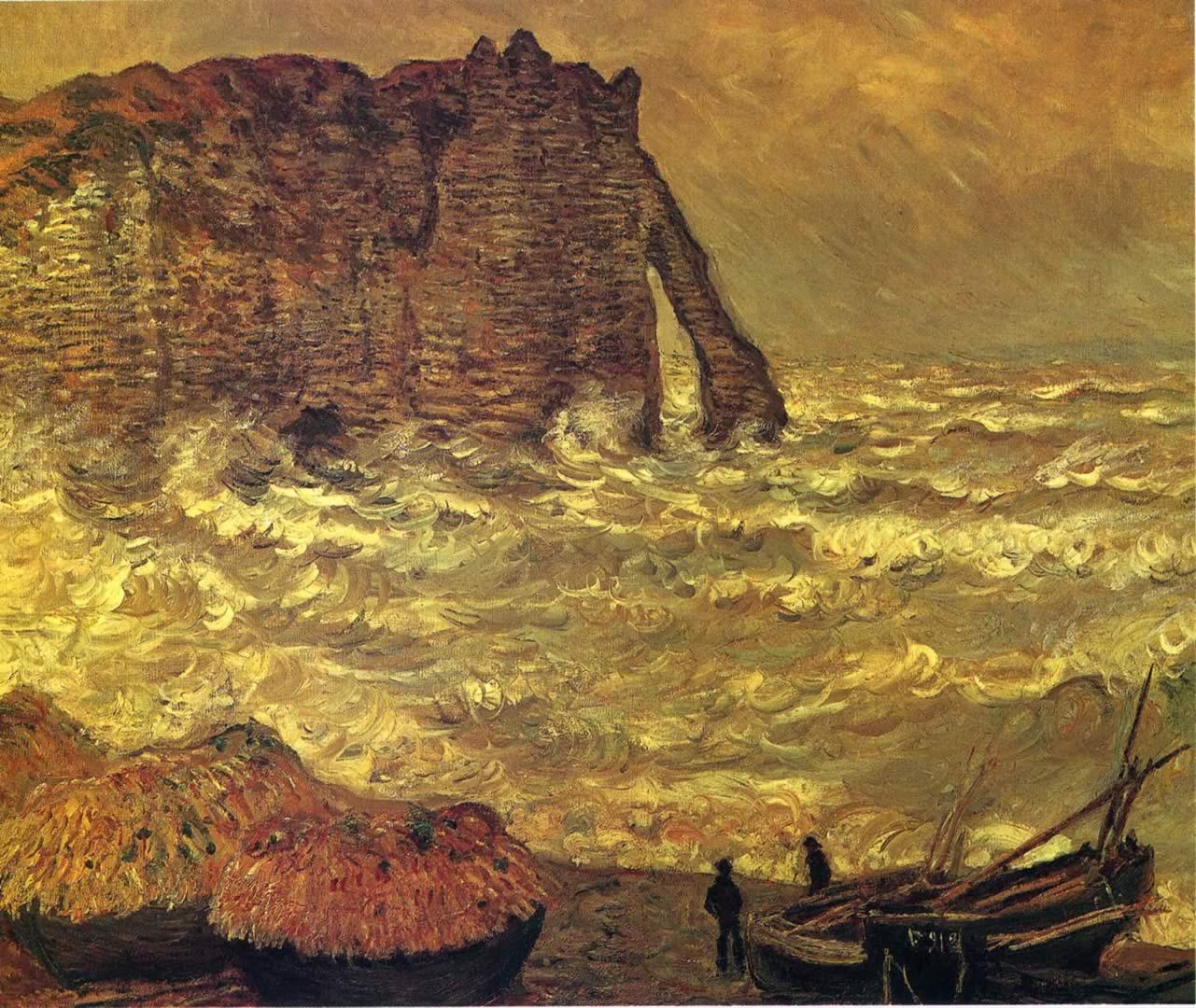 Etretat Rough Sea