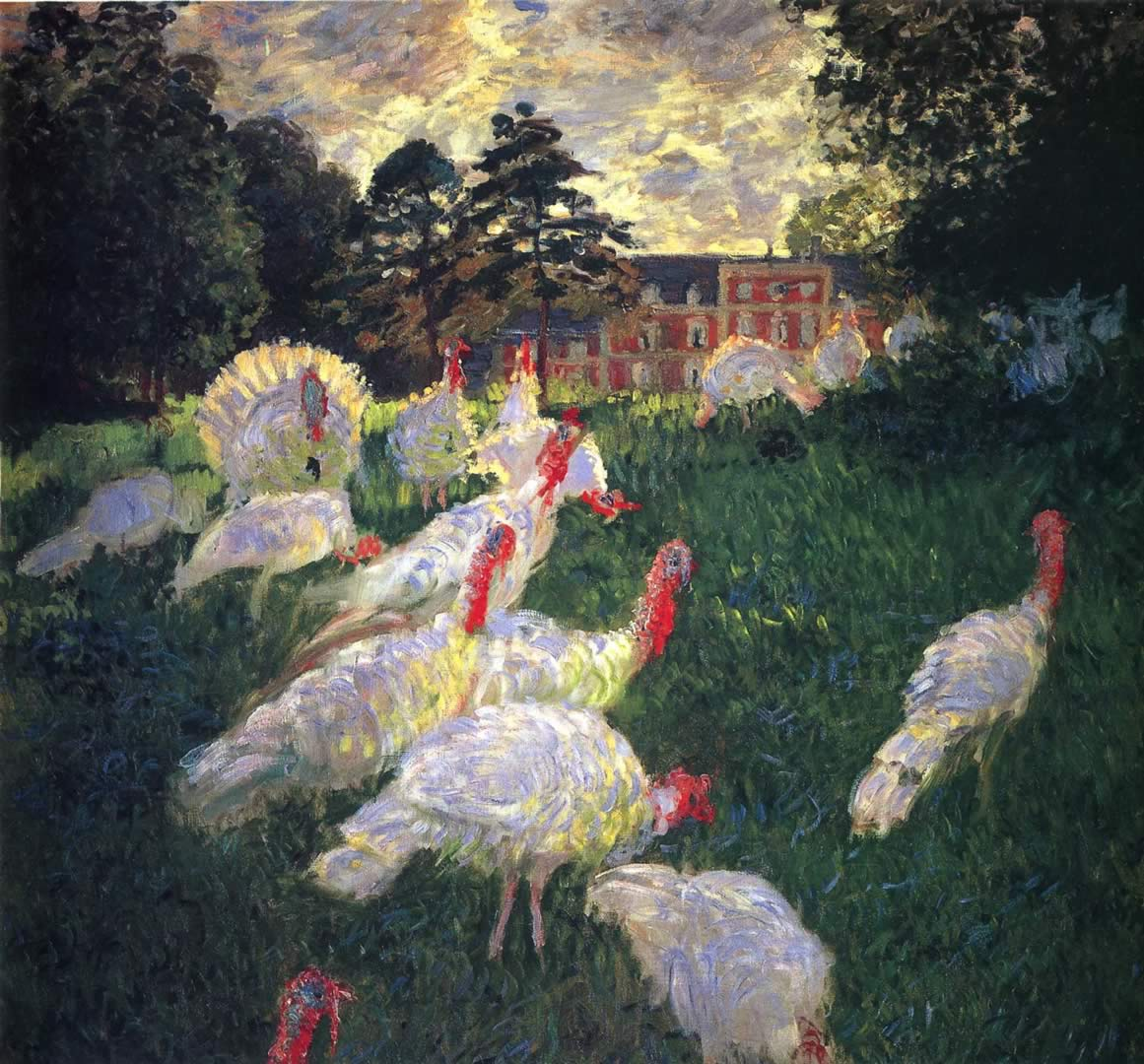 Gaggle Of Chickens And Hens
