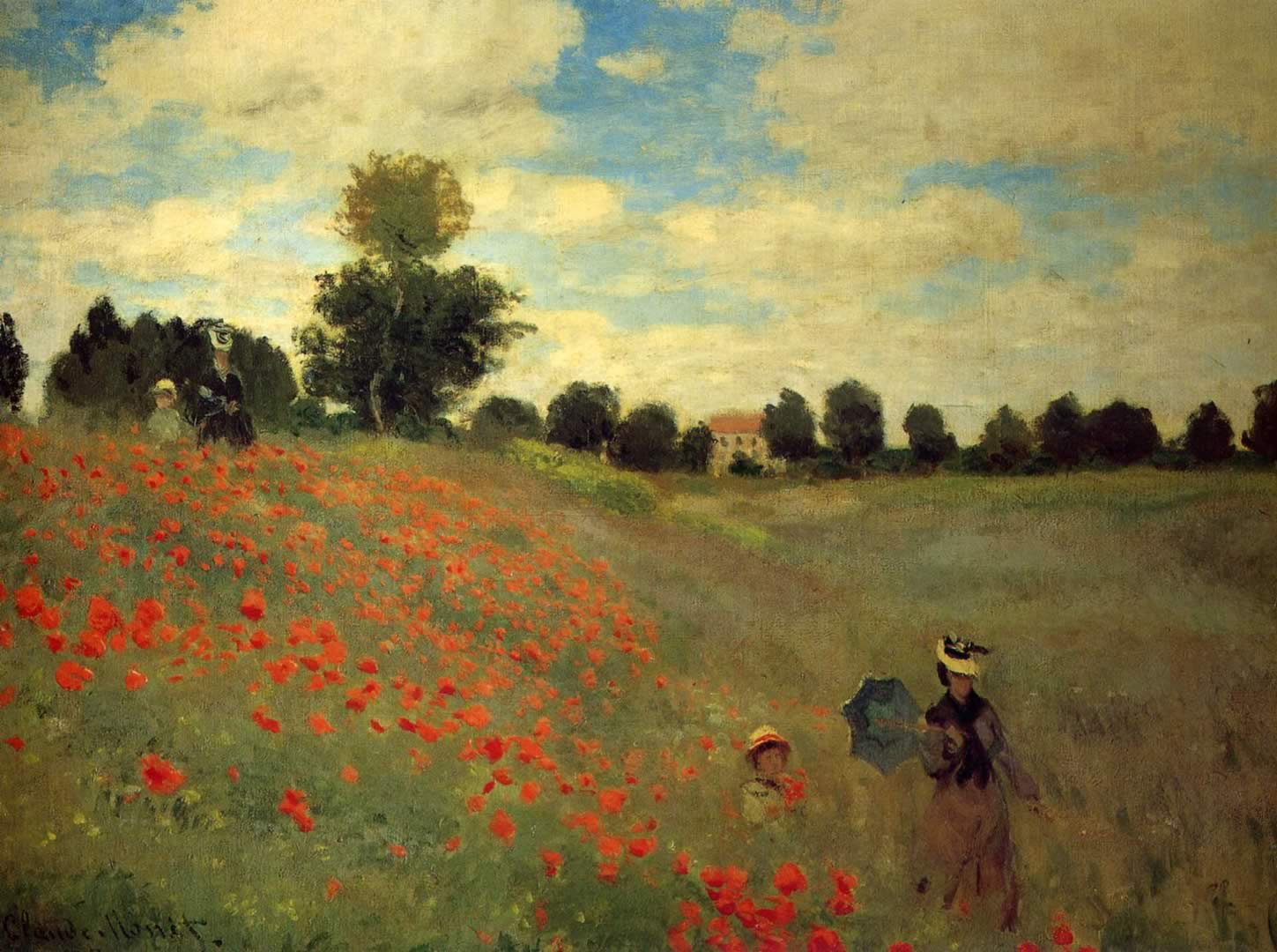 Poppies At Argenteuil  Claude Monet Wallpaper Image