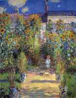 monets garden at vetheuil