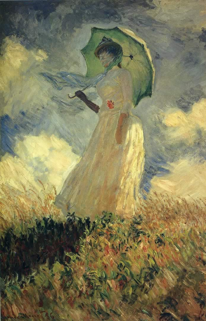 Woman With A Parasole Facing Left