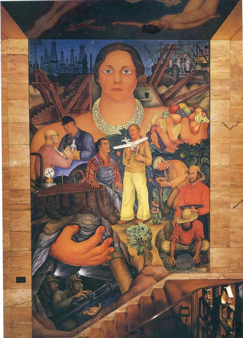 Allegory of california mural diego rivera wallpaper image for Diego rivera mural