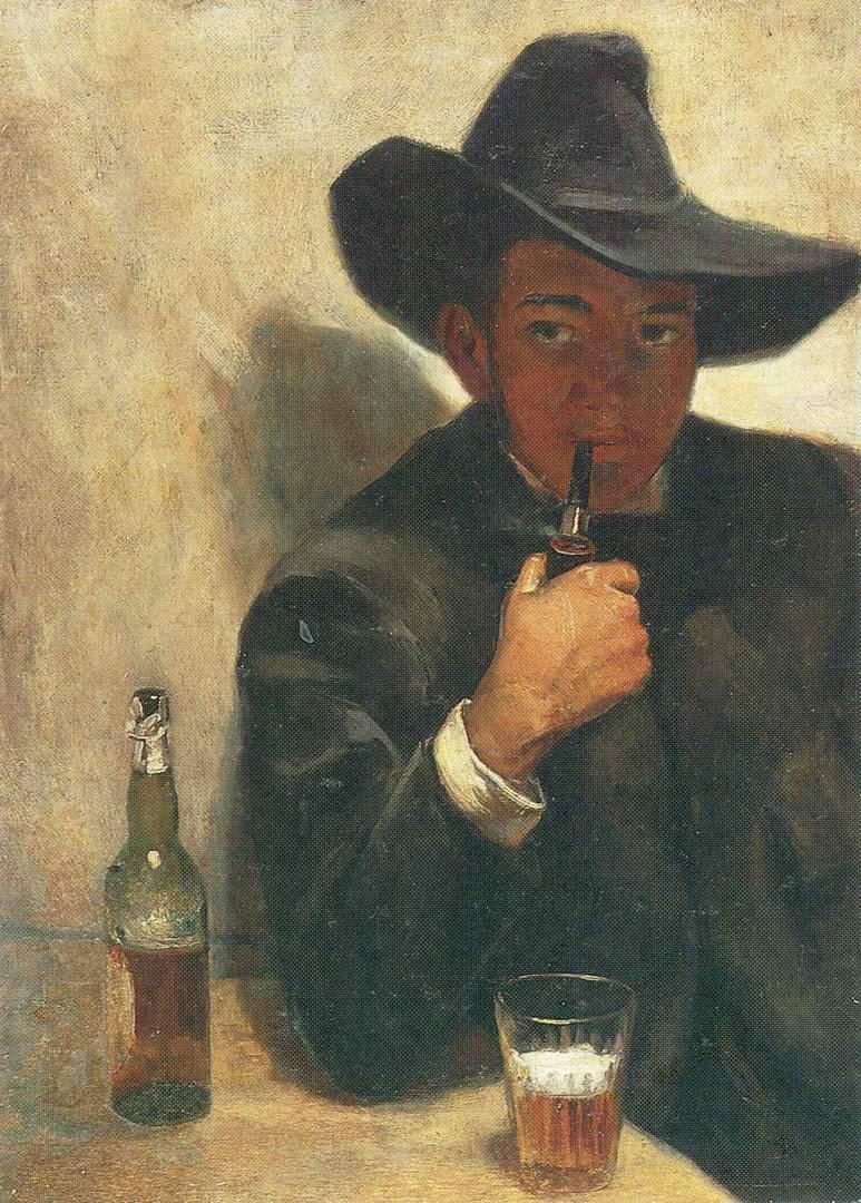 Diego Rivera Self Portrait In Black HatDiego Rivera Self Portrait