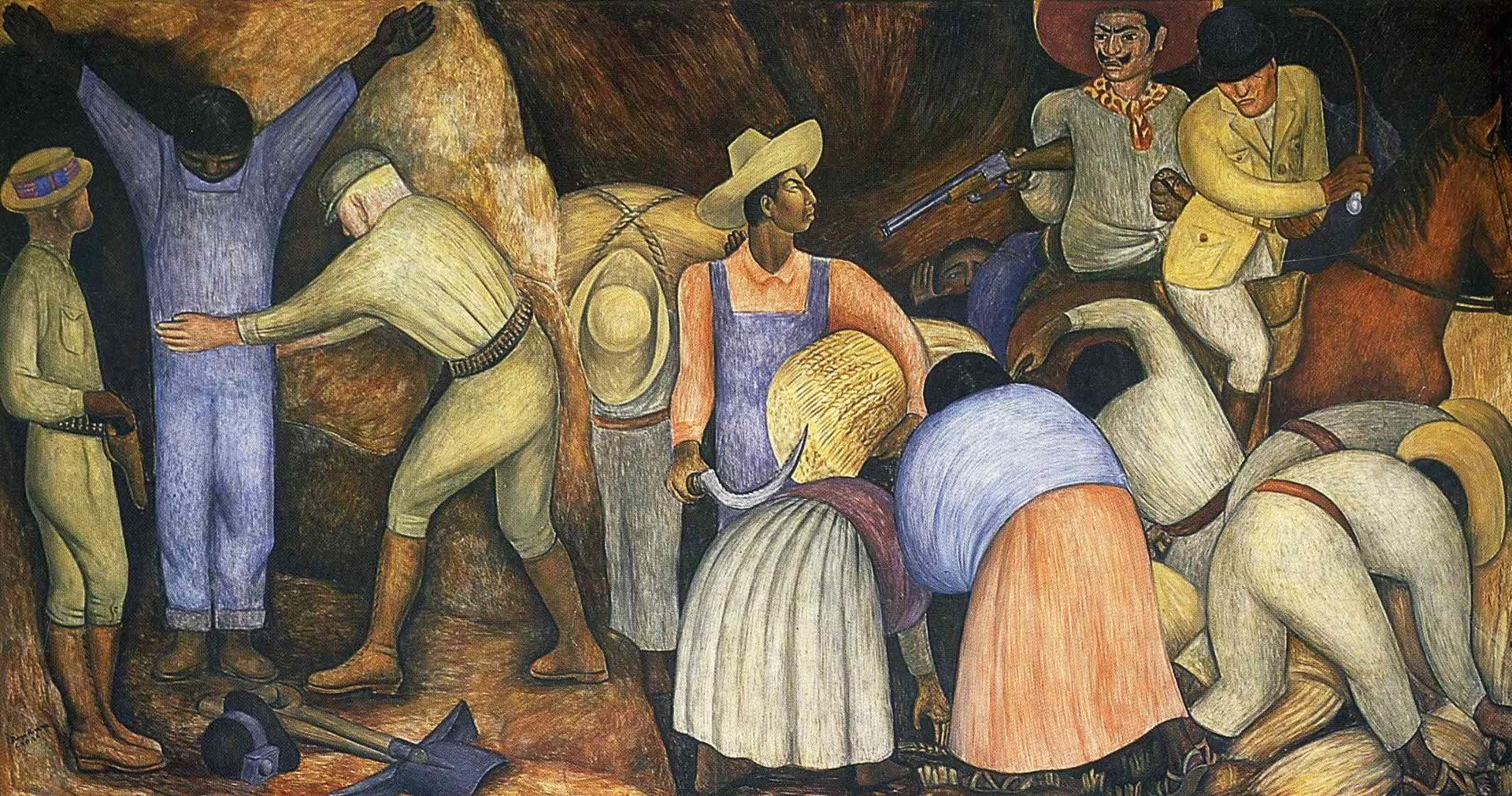 Through her paintings she breaks all th by diego rivera for Diego rivera s most famous mural