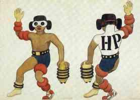 the man costume desgin for the ballet horsepower