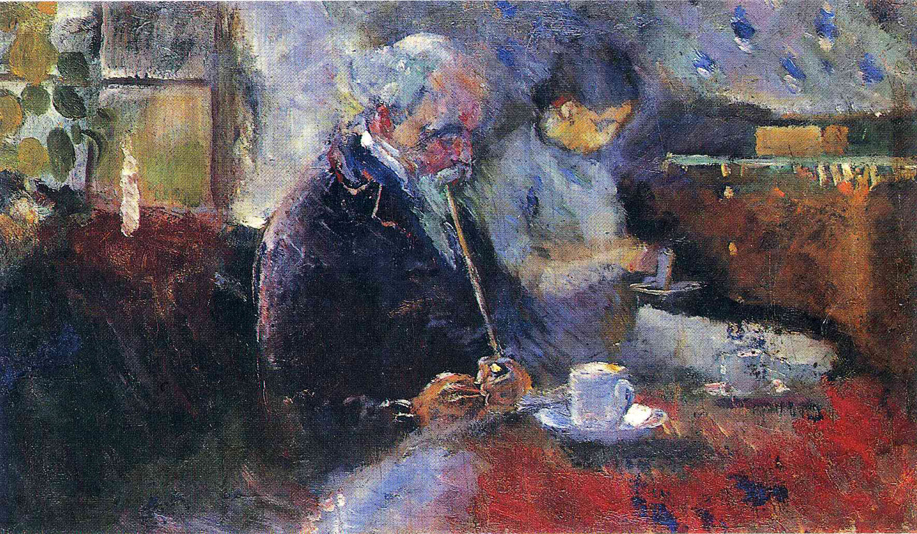 couple at the cafe edvard munch wallpaper image