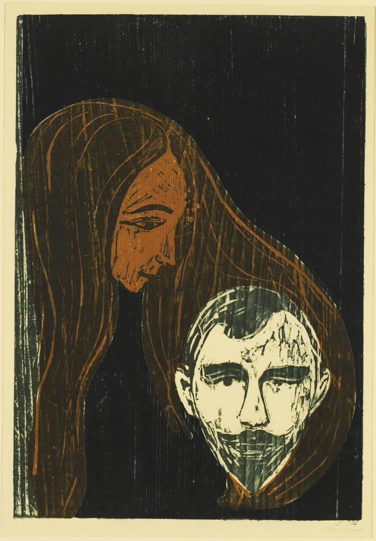 Male Head In Woman