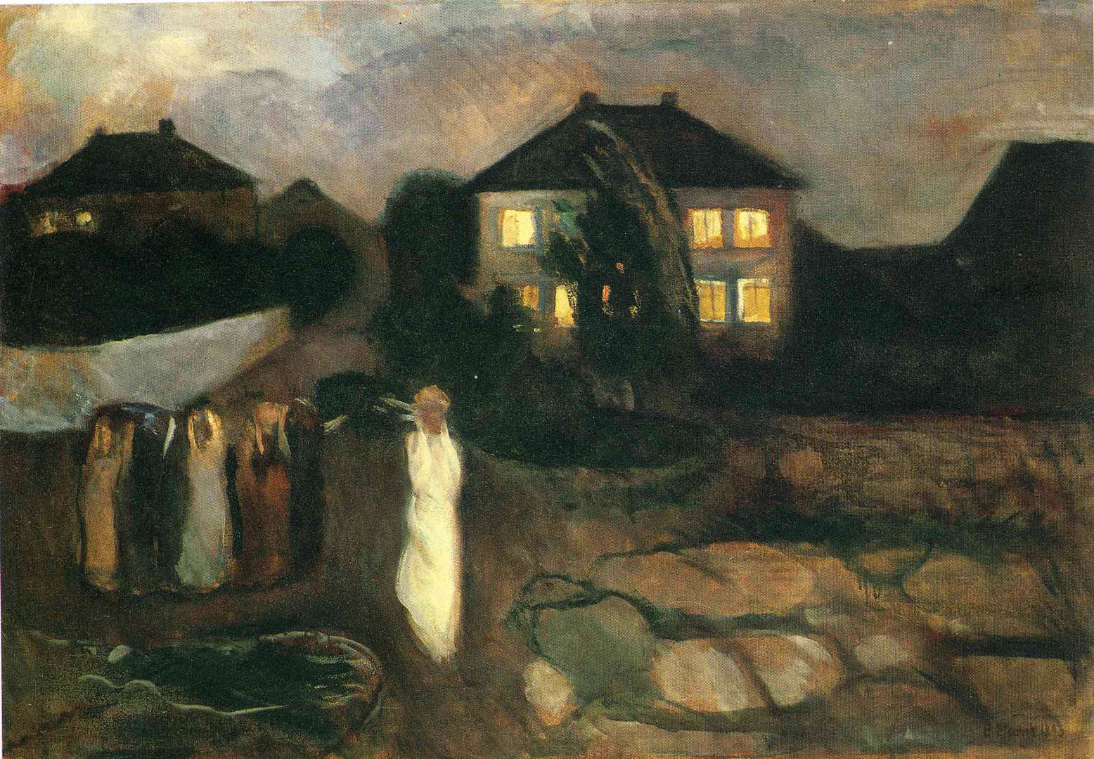The Storm - Edvard Munch Paintings wallpaper image