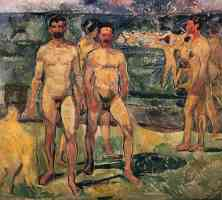 group of nude men
