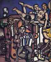 three musicians and dancers