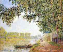 effect of the sun on the banks of the loing