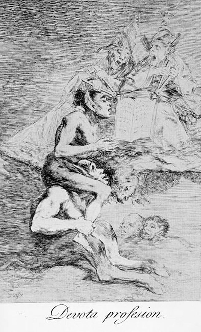 Francisco Goya Devoted Profession From The Caprices