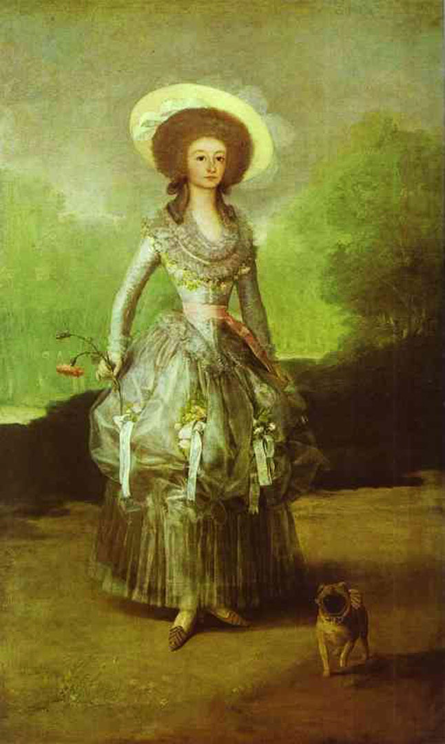 the marquesa de pontejos francisco goya wallpaper image