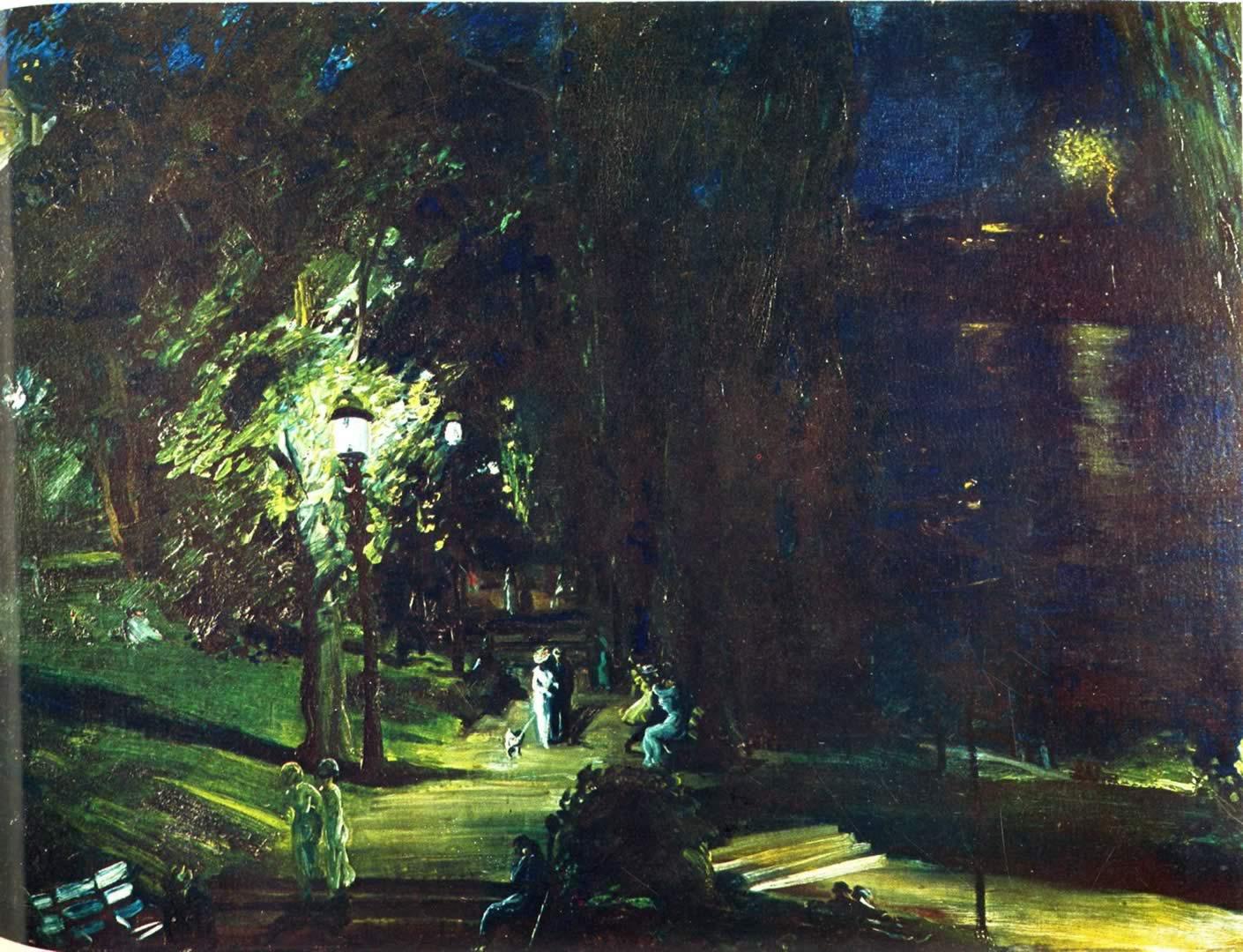 Summer Night Riverside Drive