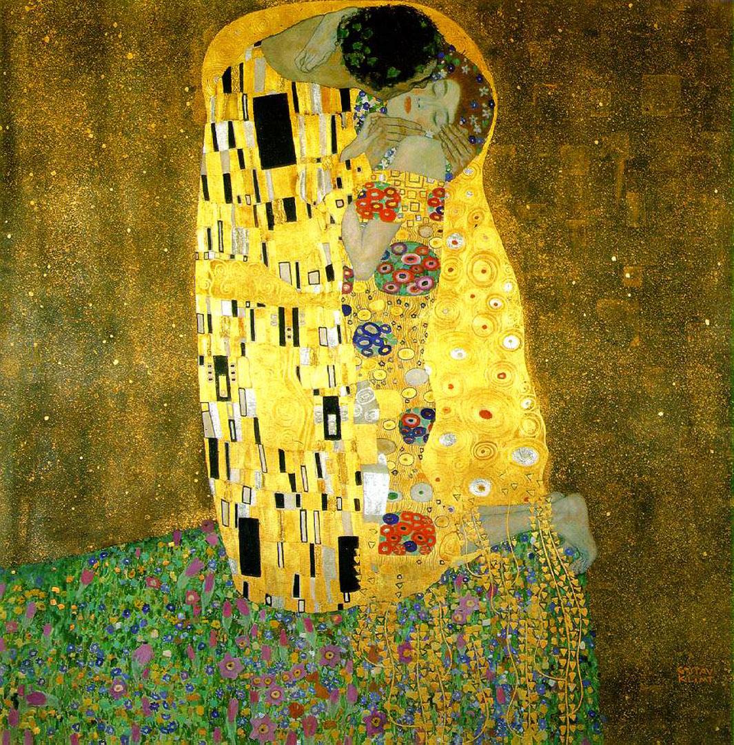 Klimt The Kiss Wallpaper The Kiss - Gustav Klim...
