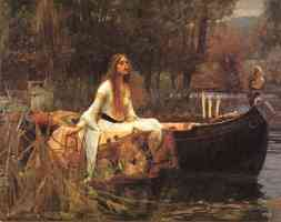 lady of shalott on boat