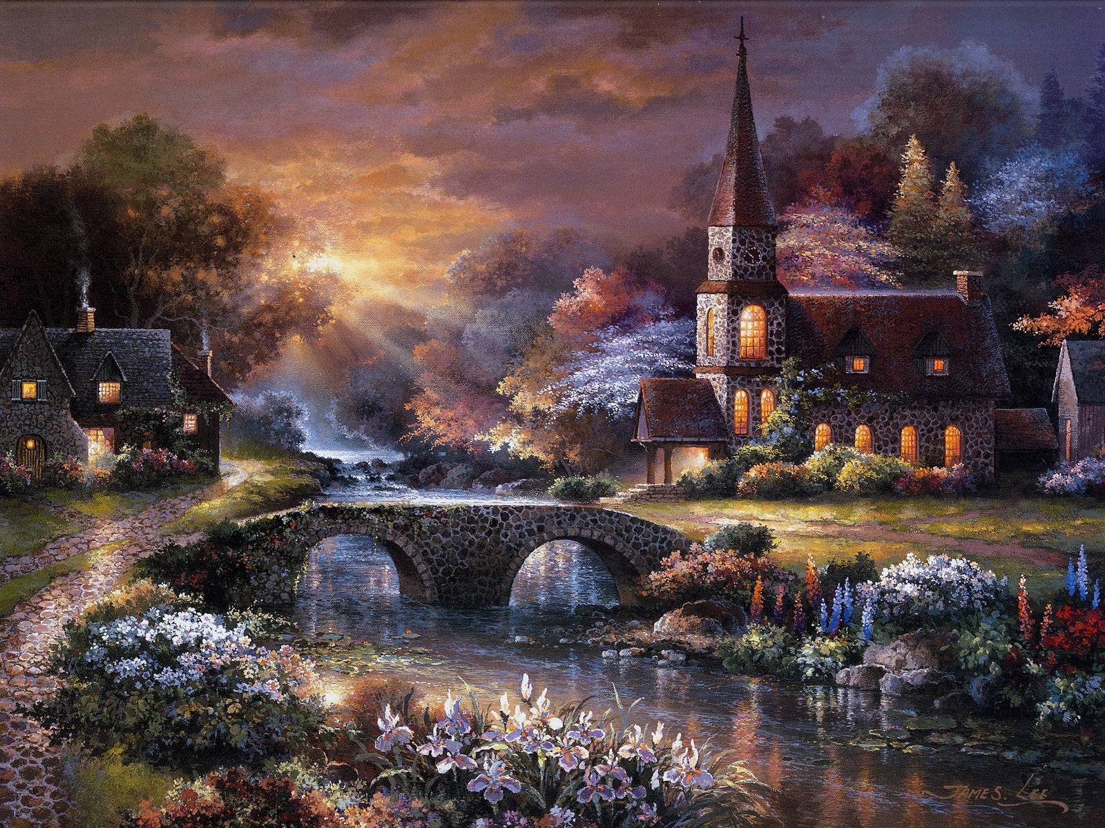 peaceful reflections james lee wallpaper image