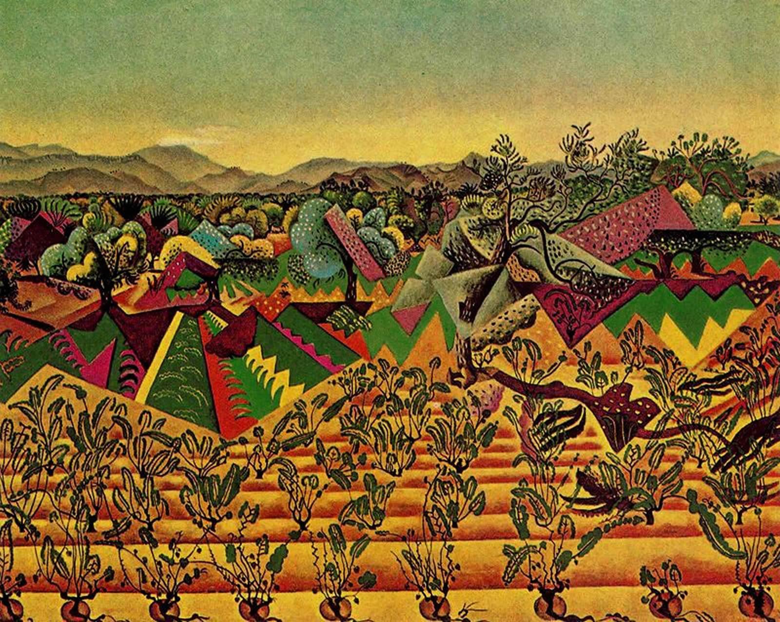 Olive Grove In Montroig - Joan Miro Wallpaper Image