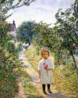 little girl in a lane giverny