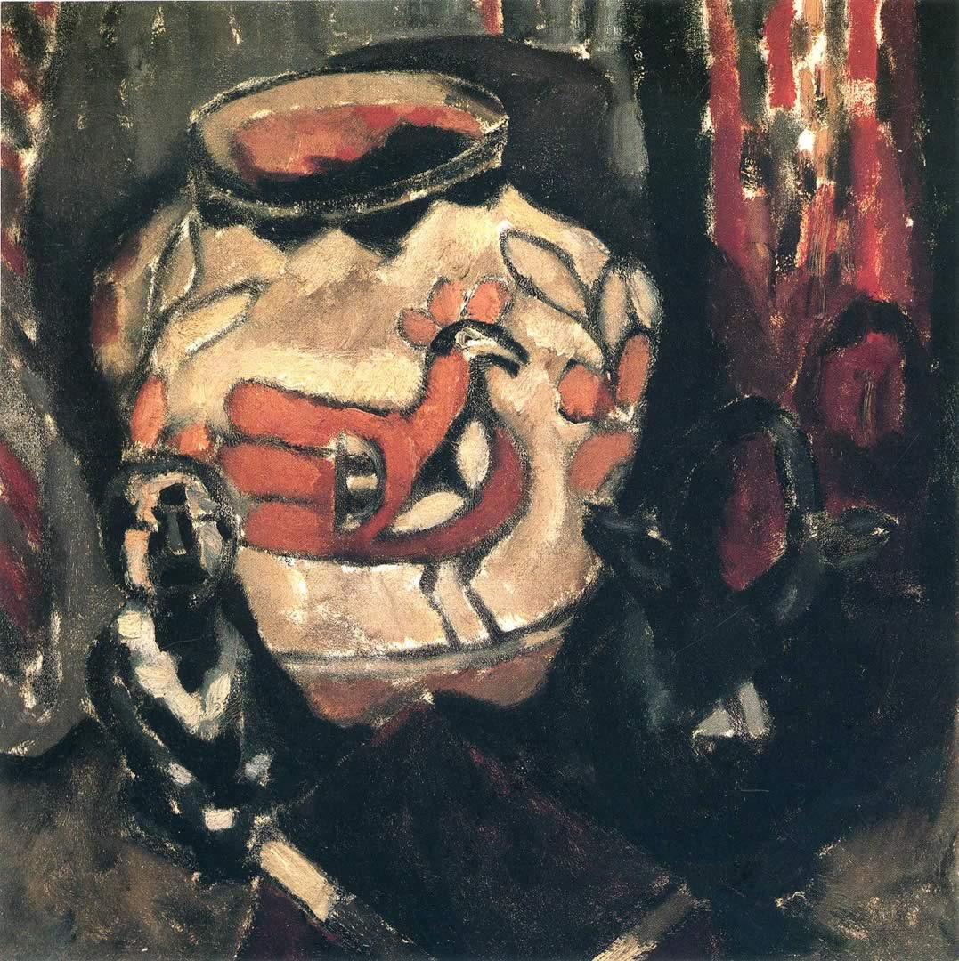 Marsden Hartley Indian Pottery Jar And Idol