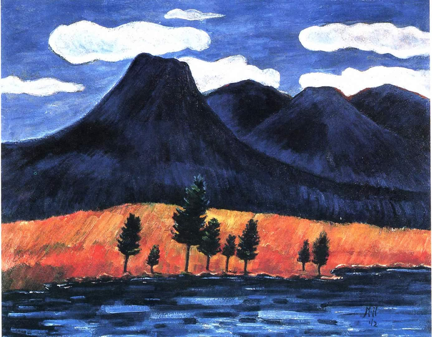 mt katahdin maine 1 marsden hartley wallpaper image