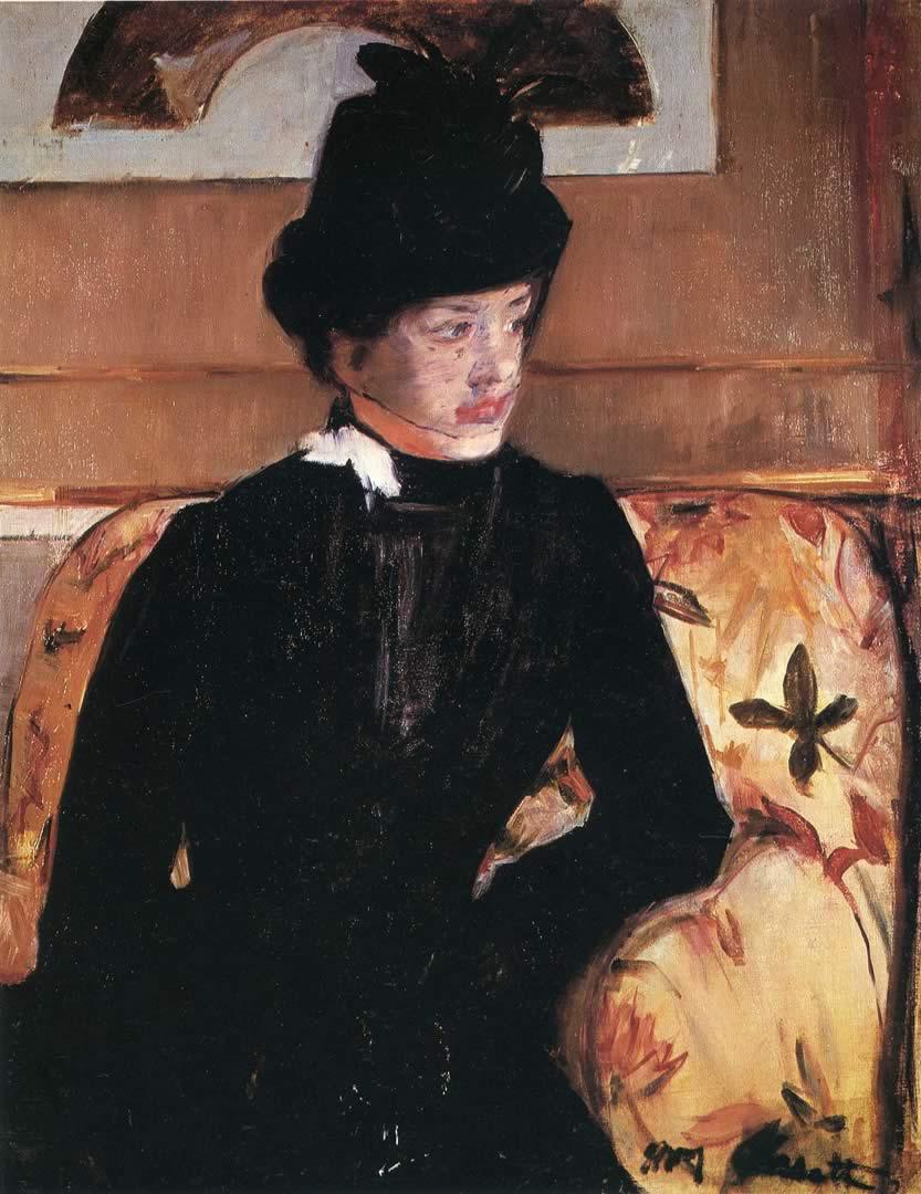 Mrs Gardner Cassatt In Black