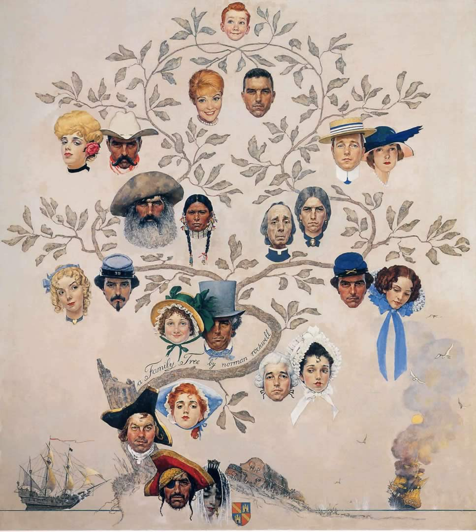 Family tree norman rockwell wallpaper image - Family tree desktop wallpaper ...