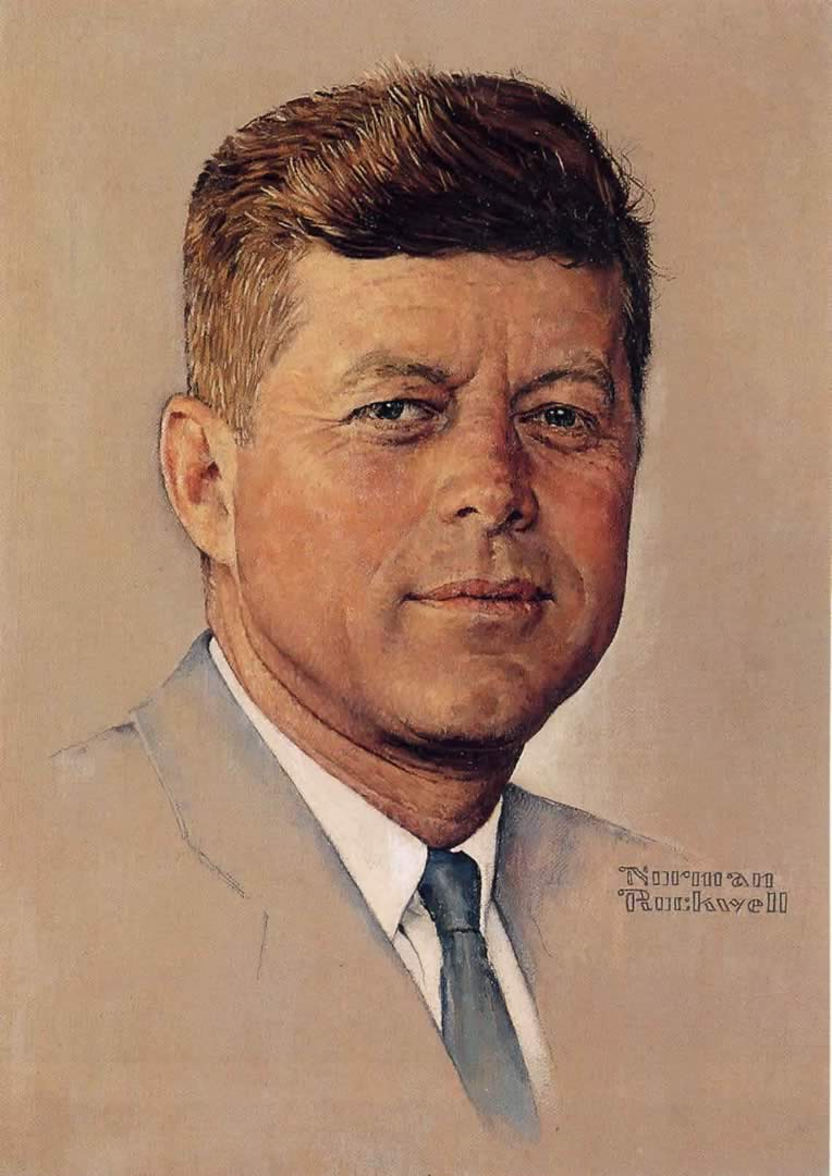 Portrait Of John F Kennedy