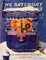 news kiosk in the snow