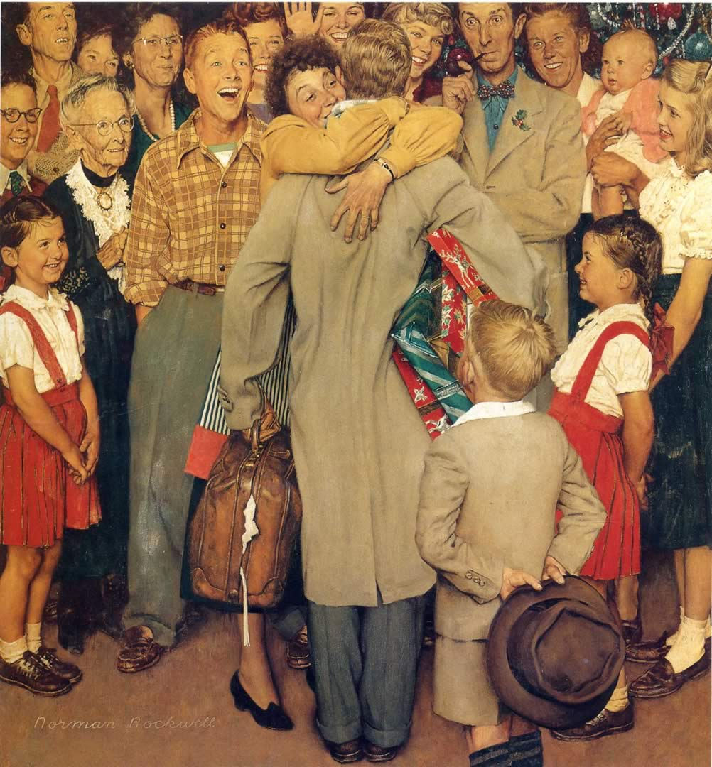 Welcome Home - Norman Rockwell Wallpaper Image