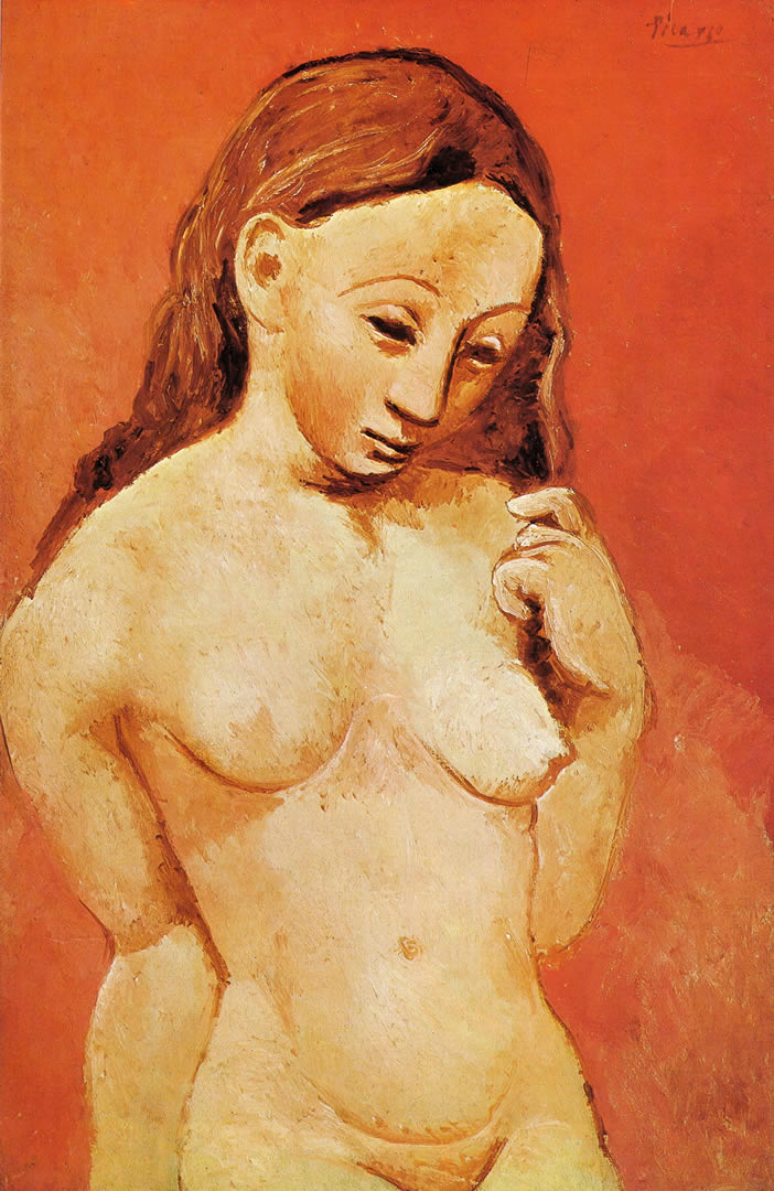 Nude Against A Red Background 1906
