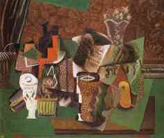 still life with cards glasses and a bottle of rum vive la france 1914 5