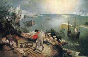 landscape wth the fall of icarus