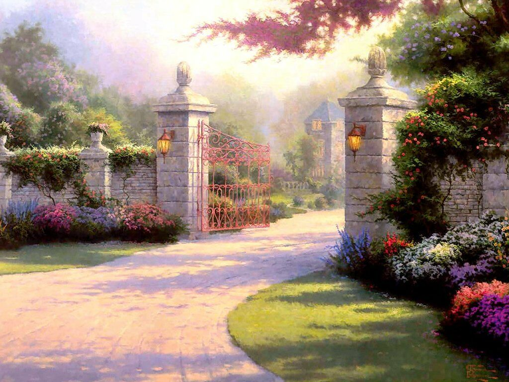 previous thomas kincade wallpaper. Summer Gate