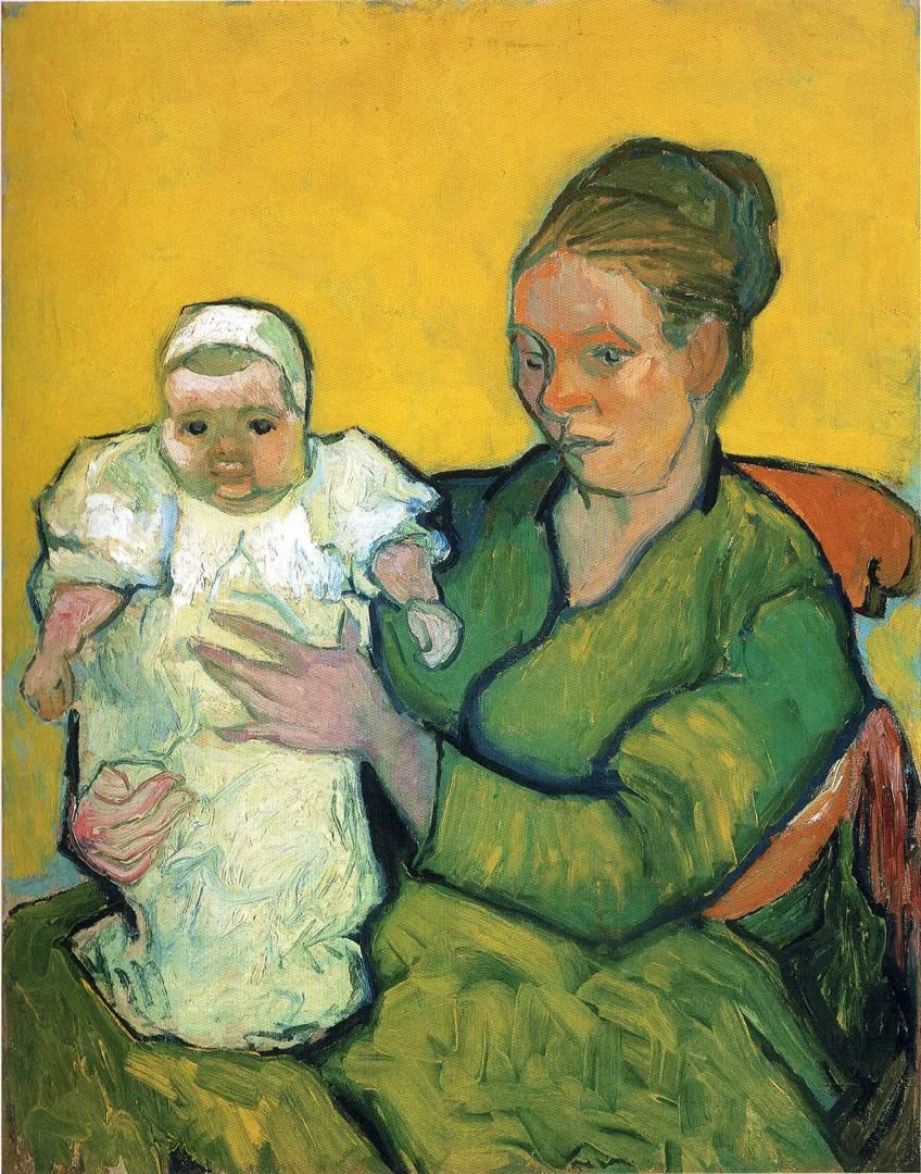 Mother Roulin With Her Baby