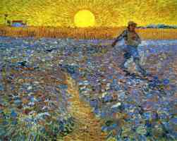sower with the setting sun
