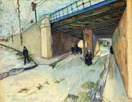 the railway bridge over avenue montmajour